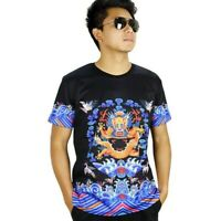 Chinese Style Men T-shirt 3D Print Emperor Robe Short Sleeve Tops Oversized Tees
