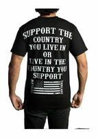 Outlaw Threadz Support American USA Stars Stripes Patriotic Flag T Shirt MT109
