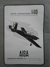 6/1953 PUB AISA AERONAUTICA MADRID SPAIN I-115 AIRCRAFT AVION ORIGINAL FRENCH AD