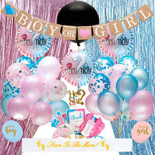 Baby Gender Reveal Party Supplies Kit - 95 Piece Complete Decoration Set