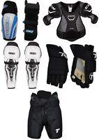 Senior Ice Hockey Pants Gloves Shin Elbow Shoulder Pads Sr Set Equipment Kit New