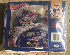 3 Piece Twin Sheet Set MLB Genuine Merchandise Bibb Company (1996) NEW