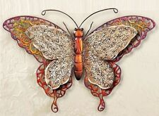 Textured Antique Scrollwork Large Metal BUTTERFLY Wall Art Hanging Nature Decor