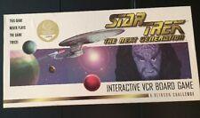 *Star Trek The Next Generation Interactive VCR Board Game A Klingon Challenge