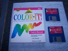 Color IT Version 2.0 Image Editing and Drawing program for vintage Mac - 800K