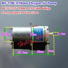 DC3V~12V 5V 6V Mini 370 Moteur Artérielle Oxygène Pompe à Air Aquarium Poisson