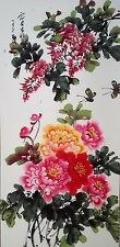 Hand Paint Scroll Painting Peony,king of flowers,brings you luck    64