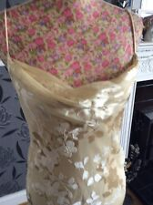 "Monsoon Gold Beaded Dress Long Length 57"" Size 12 Ec Away 4.9-18.10"