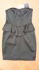 ASOS Strapless Black Dress Size UK 10 EU 38 New with Tags