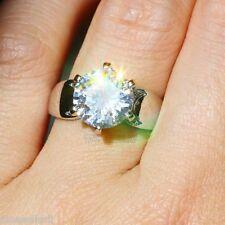 NO.655 Multi Sapphire Birthstone 925 Silver Filled Bridal Wedding Ring Size 7