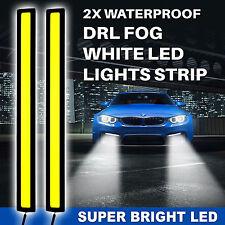 Super White Car Front COB DRL Fog Daytime Driving Lamp 12V LED Waterproof Lights