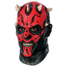 Star Wars Darth Maul Deluxe Adult Overhead Latex Mask Fancy Dress Party Costume