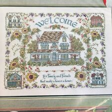 Counted Cross Stitch Kit Heritage Collection Welcome Home Family Friends Parker