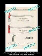 8x6 HISTORIC PHOTO OF PHILADELPHIA PA THE F/P TOOL Co POSTER HOOK & ICE AXES