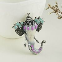 Retro Elephant Animal Brooch Pin Enamel Wedding Fashion Costume Jewelry Gifts