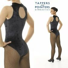Turtle Neck Velvet Sleeveless Leotard with Keyhole Back - Available in 7 Colours