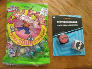 Cry Baby Extra Sour Gumballs PLUS Truth or Dare Dice Game