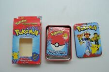 1999 Bicycle Nintendo Pokemon Deck of Playing Cards in a Tin - Cards Sealed