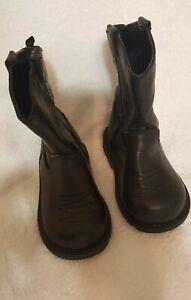 HEALTHTEX Baby Toddler Boy's sz 4 Western Boots - Rubber Non-Slip Soles - EUC