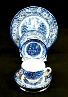 STAFFORDSHIRE Liberty Blue Fine China, 5 piece setting, pre owned