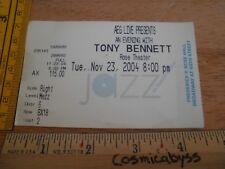 Tony Bennett 2004 concert tour ticket Original