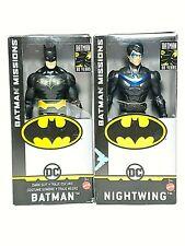 """BATMAN Missions Dark Suit Batman & Nightwing 6"""" Lot DC Comics Mattel New Sealed"""