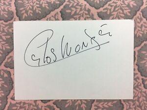 Carlos Monzon - World Middleweight Champion -  HOF - Autograph 1974