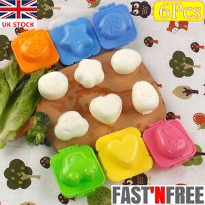 6 Set Boiled Egg Sushi Rice Mold Bento Maker Sandwich Cutter Decorating Mould UK