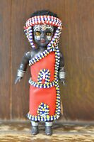 Fabulous VINTAGE Doll Of Beaded Kenyan Woman from the Masai Tribe - 18cm Tall
