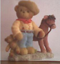 CHERISHED TEDDIES ROOSEVELT - Cowboy With Horse - 2002 Events Figurine - V Rare
