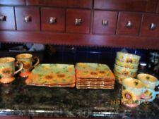 Like Brand New Hand painted Maxcera terracotta sunflowers dishware & Maxcera Dinnerware \u0026 Serving Dishes   eBay