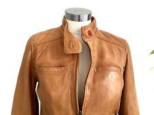 Lucky Brand Women's Tan, S, Lamb Leather Moto Jacket