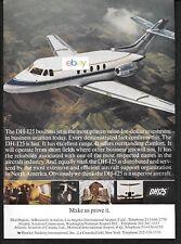 HAWKER SIDDELEY DE HAVILLAND DH125 BUSINESS JET MAKE US PROVE IT 1967 AD