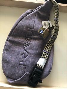 KAVU Rope Tweed Bag Kids Girls Womens Crossbody Cotton Backpack Vintage Violet