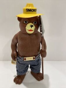 Vintage R. Dakin & Co Smokey The Bear Figure Posable Toy Forest Fire Prevention