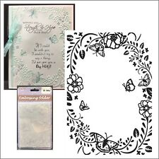 Butterfly Frame embossing folder Nellie Snellen Embossing Folders HSF016 leaves