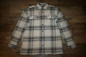 Patagonia Men's Organic Cotton Fjord Flannel Shirt 42400 Size L Nautilus Tan NWT