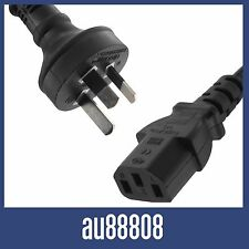 """NEW AU 3 PIN TO IEC """"KETTLE CORD"""" PLUG AUSTRALIAN 240V POWER CABLE COMPUTER LEAD"""