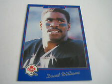 1991 JOGO CFL FOOTBALL DAVID WILLIAMS CARD #12***EDMONTON ESKIMOS***