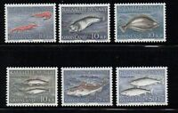 Greenland Sc 136-41 1981-86 Fish stamp set mint NH