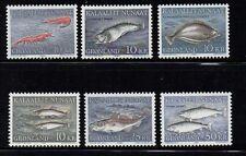 Greenland Sc 136-41 1981-86 Fish stamp set mint NH