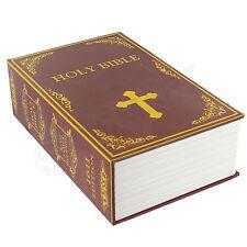 Hidden Book Safe Lock Secret Security Money Hollow Book Wall Hide Holy Bible New