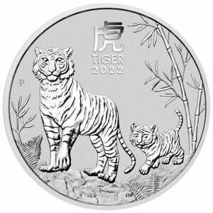 2022 P Australia Lunar Series III Year of the Tiger 1 oz Silver $1 BU PRESALE