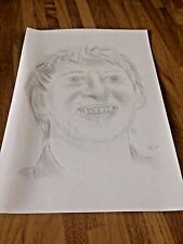 JUDD TRUMP CARICATURE PICTURE PENCIL DRAWING SKETCH  SNOOKER P
