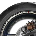 12 x SUZUKI BANDIT Wheel Rim Stripe Stickers - gsf 600 650 1200 1250