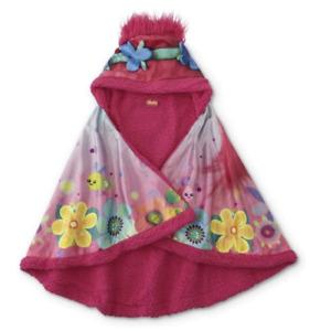 Trolls Snuggle Wrap - Poppy Trolls Blanket - Kids Hooded Blankie - Dreamworks