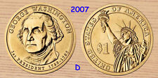 2007 D  George Washington Presidential Dollar 1-Coin