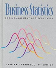 Business Statistics for Management and Economics by Wayne W. Daniel and James C.