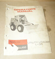 1971 Sperry New Holland Utility Loader L-35 Operator's Manual P/N 42650000