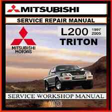 MITSUBISHI MK TRITON L200 2WD and 4WD PETROL-DIESEL WORKSHOP REPAIR MANUAL CDROM